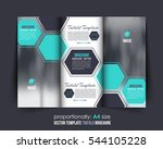 a4 document and brochure ... | Shutterstock .eps vector #544105228