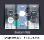 a4 document and brochure ...   Shutterstock .eps vector #544105246
