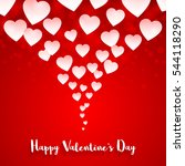 valentines day card. vector... | Shutterstock .eps vector #544118290
