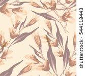 floral seamless pattern. raster ... | Shutterstock . vector #544118443