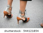 paris september 30  2016. shoes ... | Shutterstock . vector #544121854