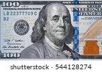us 100 dollar bill close up ...   Shutterstock . vector #544128274