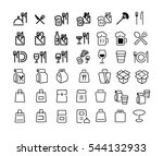 vector icon for restaurant or... | Shutterstock .eps vector #544132933