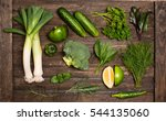 detox concept. green vegetables ... | Shutterstock . vector #544135060
