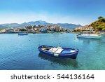 samos island  greece  ... | Shutterstock . vector #544136164