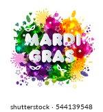 illustration of carnival mardi... | Shutterstock .eps vector #544139548