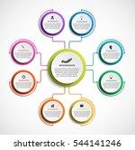 infographic design organization ... | Shutterstock .eps vector #544141246