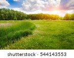 summer panorama landscape.... | Shutterstock . vector #544143553