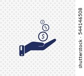 icon of money in hand on gray... | Shutterstock .eps vector #544146508