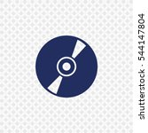 Icon Of Cd Or Dvd On Gray...