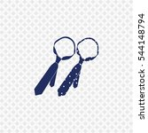 icon of tie on gray background. ... | Shutterstock .eps vector #544148794
