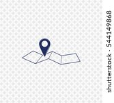 icon of pin on the map on gray... | Shutterstock .eps vector #544149868