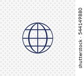 icon of earth globe logo on...