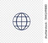 icon of earth globe logo on...