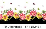 Watercolor Rose Flower Pattern