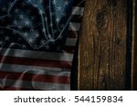 usa flag on a wood surface | Shutterstock . vector #544159834