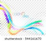 colorful lines scene vector... | Shutterstock .eps vector #544161670