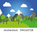 natural landscape in the flat... | Shutterstock .eps vector #544163728