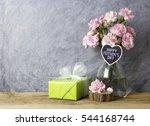 pink carnation flowers in... | Shutterstock . vector #544168744