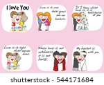 lover  groom and bride sweet... | Shutterstock .eps vector #544171684