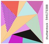 abstract modern triangles... | Shutterstock .eps vector #544173388