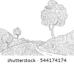 Landscape Coloring Book For...