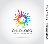 child logo template. colorfun... | Shutterstock .eps vector #544175719
