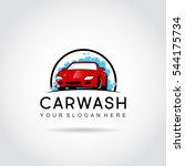 car wash logo template design.... | Shutterstock .eps vector #544175734
