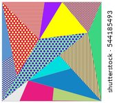 abstract modern triangles... | Shutterstock .eps vector #544185493