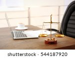 empty office with lawyer... | Shutterstock . vector #544187920