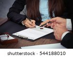 notary with client in office | Shutterstock . vector #544188010