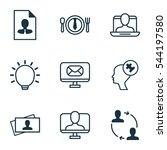 set of 9 business management...   Shutterstock . vector #544197580