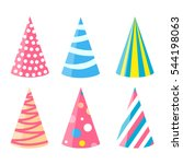 party different hats collection ...   Shutterstock .eps vector #544198063