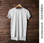 blank color t shirt against... | Shutterstock . vector #544198804