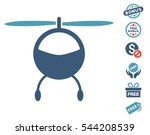 helicopter pictograph with free ... | Shutterstock .eps vector #544208539