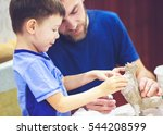 Father With His Son Five Years  ...