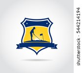 junior golf academy template... | Shutterstock .eps vector #544214194
