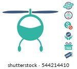 helicopter icon with free bonus ... | Shutterstock .eps vector #544214410