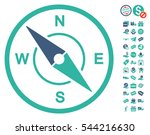 compass icon with free bonus... | Shutterstock .eps vector #544216630