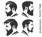 man with beard variations... | Shutterstock .eps vector #544217386