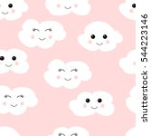 seamless pattern with cute... | Shutterstock .eps vector #544223146