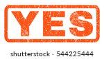 yes text rubber seal stamp... | Shutterstock .eps vector #544225444