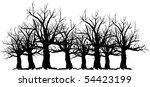 vector silhouette graphic... | Shutterstock .eps vector #54423199