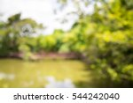 abstract blur lake in city park ... | Shutterstock . vector #544242040
