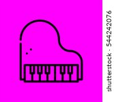piano icon flat disign