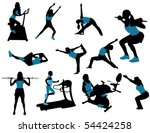 sports silhouettes | Shutterstock .eps vector #54424258