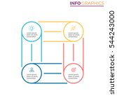 square for infographics with 4... | Shutterstock .eps vector #544243000