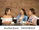 asian female friends laughing... | Shutterstock . vector #544248310