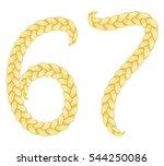 braids font. alphabet made from ... | Shutterstock .eps vector #544250086