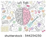 concept of the human brain | Shutterstock .eps vector #544254250